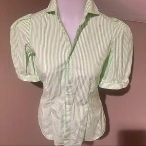 Ralph Lauren Women's Stripe Button Down Shirt SZ 6